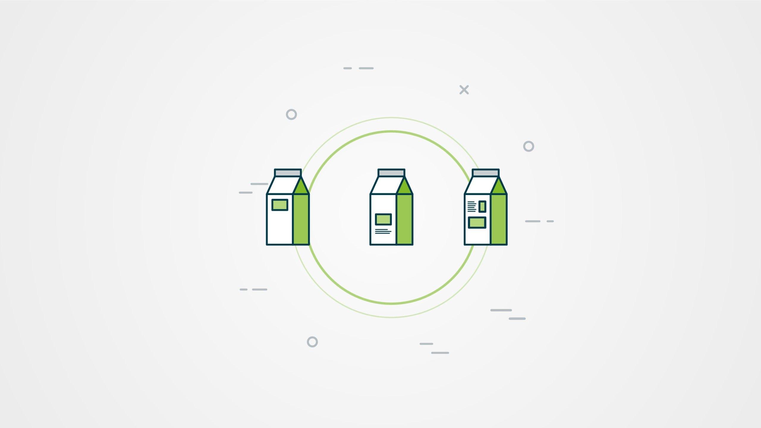 Milk carton infographic screen grab