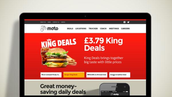 Moto website page visuals