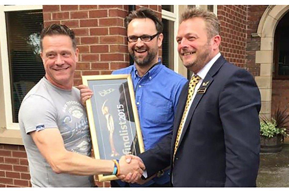 Steve with Keith receiving BIBA Award