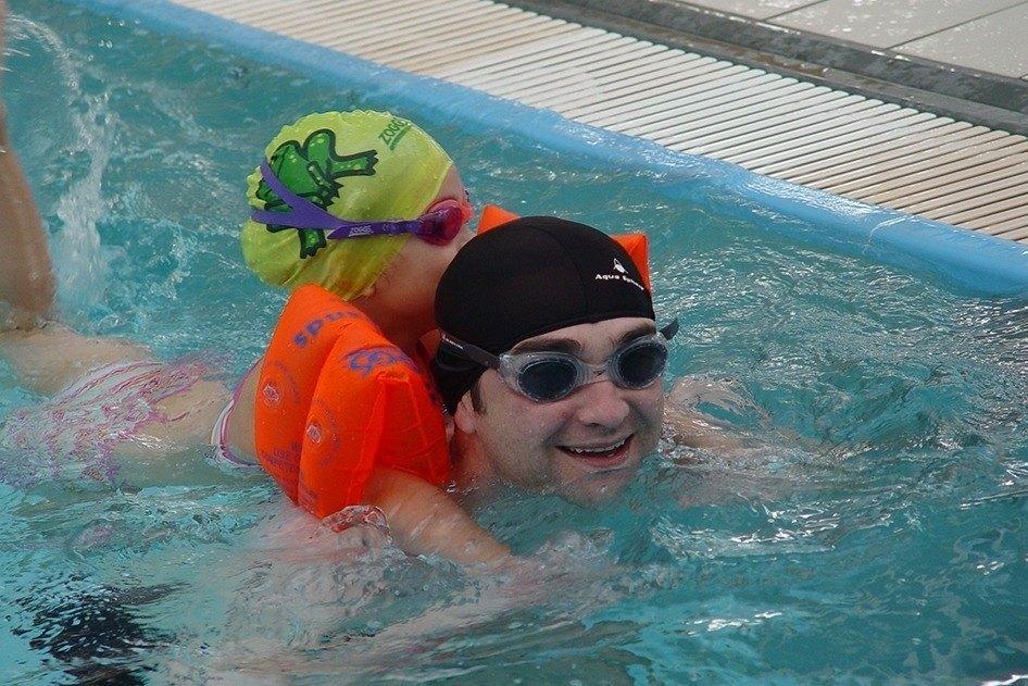 Steve swimming