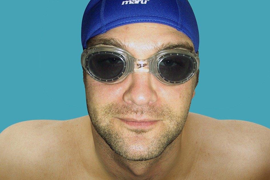 Steve in swimming cap