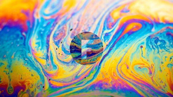 Coloured oil slick